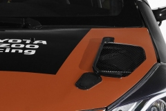 Yaris bonnet vortex generator and vent on car